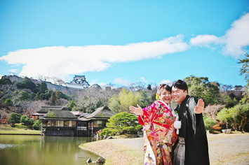 先輩花嫁ㇾポ①とっても素敵な前撮りのお写真が届きました!