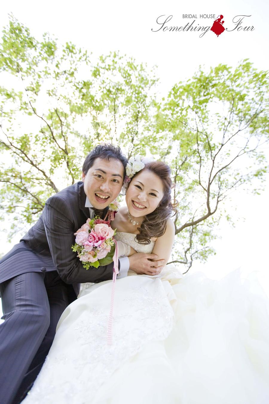幸せの結婚写真【彦根市荒神山公園】