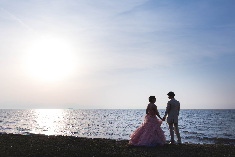 日本1の大きさを誇るびわ湖での撮影も大人気です。滋賀ならではの撮影スポットがたくさんあります!
