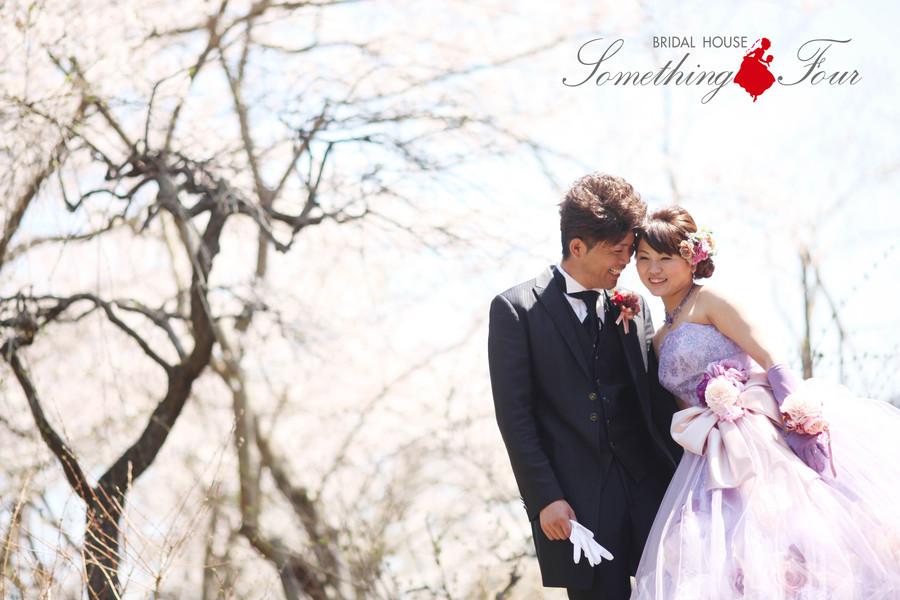 満開の桜の中でロケーションフォトウェディング【米原市ローザンベリー多和田】
