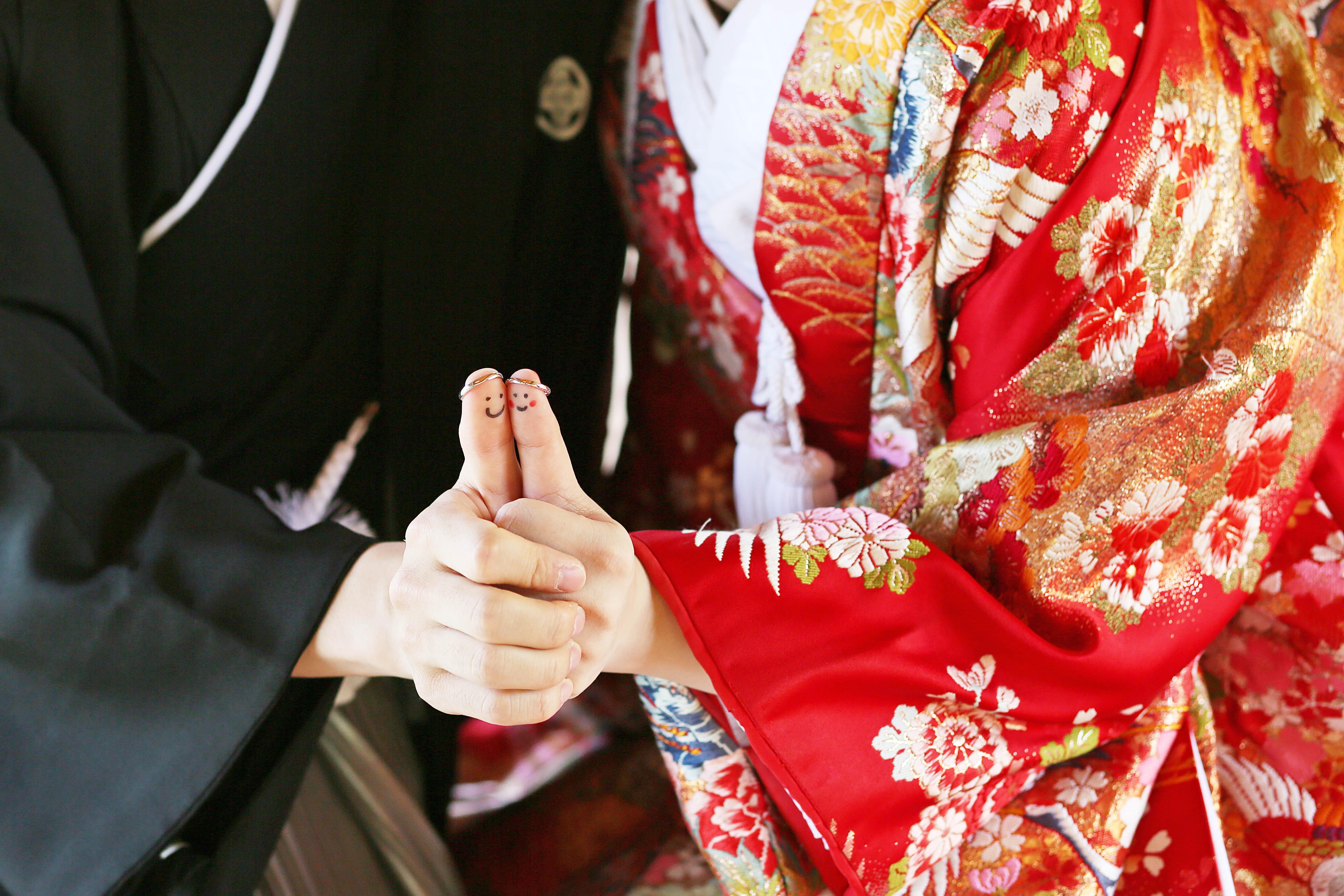 結婚指輪を使ってこんな可愛い写真も撮れちゃうんです♪滋賀ブライダルフォトワークス