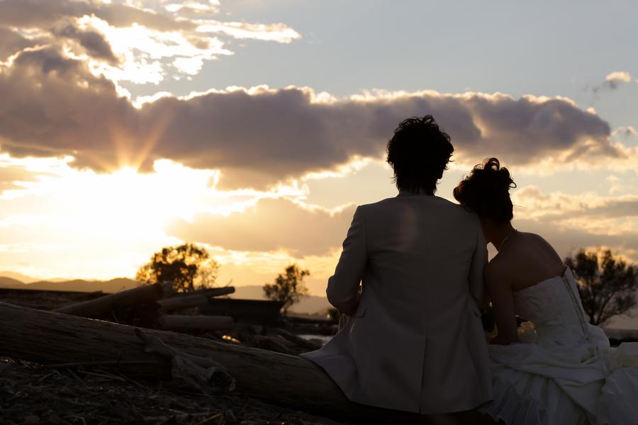 琵琶湖での撮影でも一風雰囲気を変えてサンセットを背景に撮影をしてみませんか?