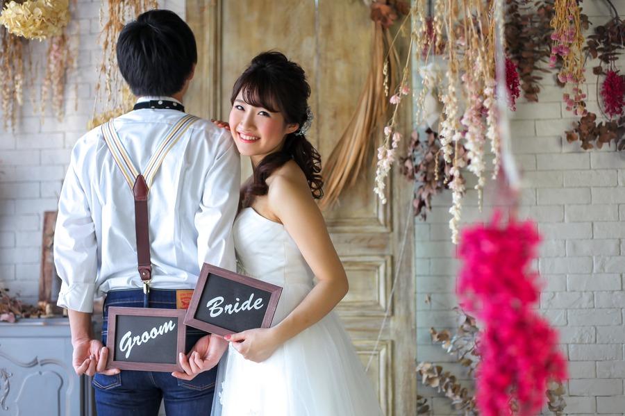 FLAGG WEDDING 滋賀でもこんな素敵なスタジオフォトが撮れるんです!