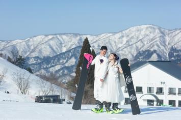 【新登場】待望のゲレンデでスノーフォトウェディングプラン発表!スキー・ボード好きのカップル必見!