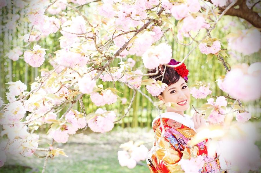 滋賀で桜の前撮りするなら滋賀ブライダルフォトワークスへ